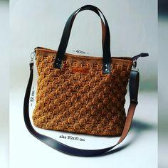 Basketweave Crochet Tote Bag