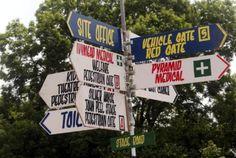 Glastonbury signpost! Glastonbury 2013