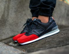 New Balance 576: Red/Black/Grey