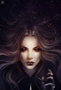 Chalice by escume dark elf drow necromancer sorcerer sorceress wizard witch… Dark Fantasy Art, Fantasy Women, Fantasy Artwork, Dark Art, Male Character, Character Portraits, Illustrator, Vampire, Digital Art Girl