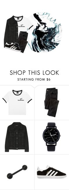 """""""I love you, Even though I don't like you right now. I want you Even though you keep breaking me down. We got Really high highs Really low lows But I still love you Even though I don't like you right now"""" by be-robinson ❤ liked on Polyvore featuring Wrap, J Brand and adidas Originals"""