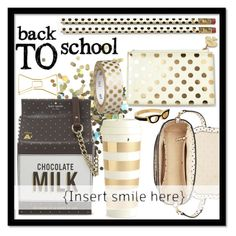 """Back to School with Kate Spade"" by tanyaf1 ❤ liked on Polyvore featuring interior, interiors, interior design, home, home decor, interior decorating, Topshop, Kate Spade and BackToSchool"
