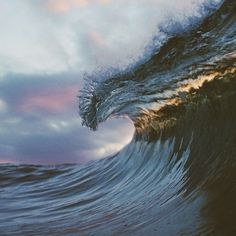 Cresting wave photography by Ryan Pernofski
