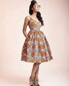 African Classy Midi Dress - The African Clothing African Inspired Fashion, African Print Fashion, Africa Fashion, Fashion Prints, Fashion Styles, Men's Fashion, African Print Dresses, African Fashion Dresses, African Dress