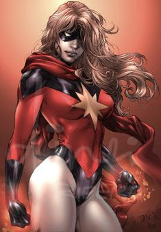 ✭ Marvel Girl - Moonstone by Ed Benes and colours by dinei-d5udz9o