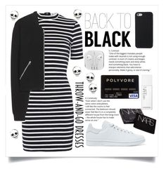 """""""back to black"""" by cubukkrakker ❤ liked on Polyvore featuring T By Alexander Wang, Acne Studios, adidas Originals and NARS Cosmetics"""