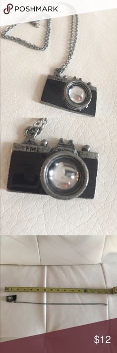Camera Necklace EUC- Never worn - I absolutely LOVE this necklace due to my photography passion and old cameras, but it should be worn. Jewelry Necklaces