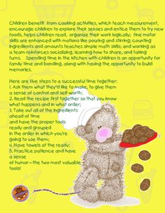 Importance of cooking with children