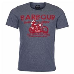 New for 2016 Barbour International Tunnel T-Shirt - Storm Marl Barbour Mens, Barbour International, Heritage Brands, Fashion Forward, Suits, Tees, Mens Tops, T Shirt, In Trend