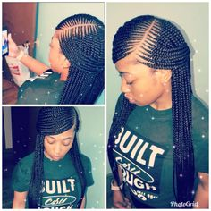 Side Part 2 Layered Braids Long And Neat Feeder Braids Braids By