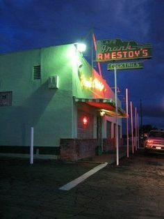 Amestoy's On the Hill Best dive bar on the East side. Friendly service, strong drinks, and a solid jukebox. Bakersfield California, Kern County, Strong Drinks, Vintage Neon Signs, Dive Bar, Central Valley, Tear Down, Old Signs, Shop Signs