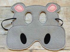 Hipopótamo fieltro Halloween disfraz máscara por lilliannamarie