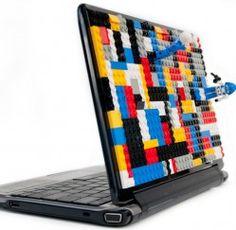 Lego StickyBun - laptop skin.  One laptop, double the fun!