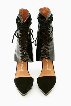 Talulah Laced Bootie by #JeffreyCampbell