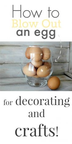 Decorating for spring and Easter is fun and rewarding. This great tip for how to blow out an egg will take your spring and Easter crafting to new heights.