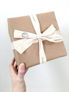 Easy & Affordable Custom Product Packaging ideas for Small Businesses - Project #2 Custom Stamped Ribbon by Modern Maker Stamps Custom Packaging, Product Packaging, Packaging Ideas, Creative Gift Wrapping, Creative Gifts, Stamped Business Cards, Customized Gifts, Custom Gifts, Birthday Gift Wrapping