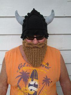 Long Beard Viking beard hat Bearded hats Wild ski by Ritaknitsall