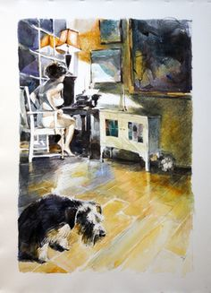"Saatchi Art Artist Gregory Radionov; Painting, ""her dog"" #art"