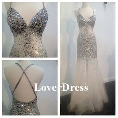Criss Cross Evening Dress Long Evening Dress Sexy by LoverDress, $230.00