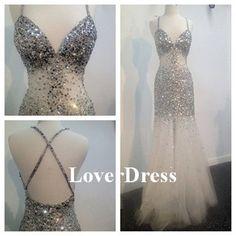 Criss Cross Evening Dress Long Evening Dress Sexy by LoverDress, $230.00