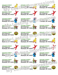 Sesame Street Personlized Mailing Labels  by SoSweetCandyBuffets