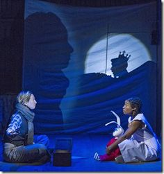 """Jessie Fisher and Melanie Brezill star in Chicago Children's Theatre's """"The Miraculous Journey of Edward Tulane,"""" adapted by Dwayne Hartford from book by Kate DiCamillo, and directed by Stuart Carden. (Photo credit: Charles Osgood)"""
