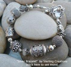 Silver bracelet - love the beads