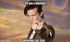 My reaction when I see someone with Doctor Who stuff or hear someone making a reference to Doctor Who.
