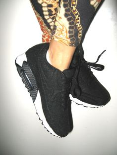 Gold chain print and AirMax