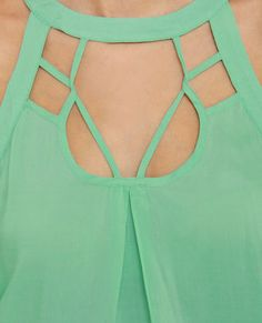 Halter Skelter Mint Green Halter Top