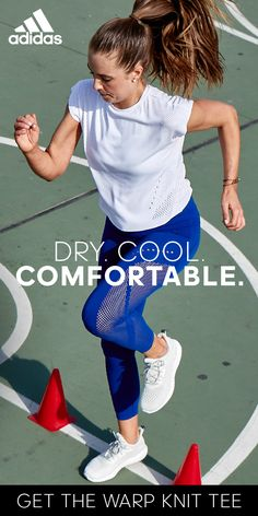 For a cropped tee perfect for daily workouts, the adidas warp knit tee gives you the freedom to move. With a wide neckline, raw edge armholes and a smooth seamless construction, the adidas wrap knit tee pushes you to your limits.