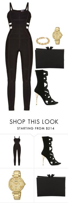 """""""."""" by owl00 ❤ liked on Polyvore featuring Hervé Léger, Balmain, Seiko Watches, Chanel and Calvin Klein"""