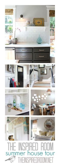 The Inspired Room Summer House Tour, come see all the projects and rooms I've been working on to make this builder house more like home by adding old house charm and my own style! (All on a reasonable person's budget without complicated DIY skill!)