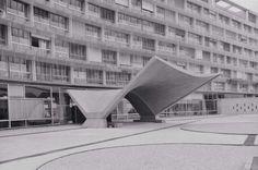 marcel breuer… with pier luigi nervi, bernard zehrfus, unesco headquarters, paris (photo from 1975)