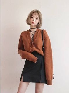 asian fashion Korean Daily Fashion Tap our link now! Our main focus is Quality Over Quantity while still keeping our Products as affordable as possible! Cute Fashion, Look Fashion, Daily Fashion, Girl Fashion, Autumn Fashion, Fashion Outfits, Womens Fashion, Fashion Trends, Fashion Black