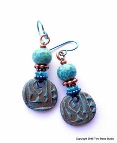 Petite artisan wear-with-anything earrings with by TwoTreesStudio