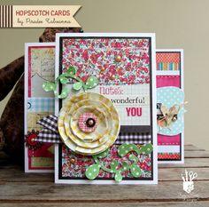 Hopscotch cards by Piradee Talvanna for Fancy Pants Designs