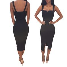 Sexy Women\'s Summer Bandage Slim Bodycon Party Cocktail Club Midi Dress