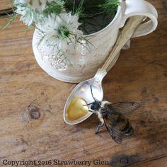 The magic of golden honey, a needle felted honeybee sculpture www.etsy.com/uk/shop/TheWhisperingWild