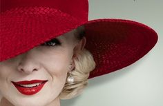 Lindsay Duncan (English Stage, TV & Film Actress). Photo from Noel Coward's play 'Hay Fever.' www.sosogay.co.uk