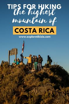 Tips for hiking Cerro Chirripo in Costa Rica which is the highest mountain in the country.