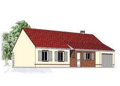 Modèle PC-21  Pavillon plain-pied avec garage comprenant cuisine, séjour, hall, salle de bains, WC, 3 chambres et 1 cellier.  Surface Habitable : 87,86m²