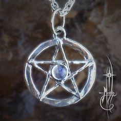Small Star with Moonstone Amulet In the center I have placed a moon stone, a mineral which seems to be solidified moon light, the Romans and Greeks associated Moonstone with...