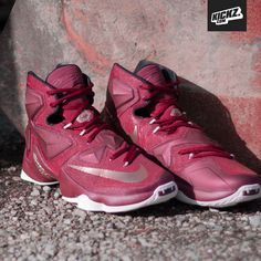 New Nike Lebron XIII in Cleveland Cavaliers team red with bronze accents