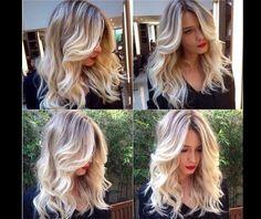 Freeliths New blond Ombre Hair, Blonde Hair, Hair Color And Cut, Dream Hair, Waves, Hair Hacks, Hair Tips, Hair Ideas, Gorgeous Hair