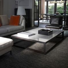 XVL Home Collection Alto Metal Carrara Marbel Coffee Table | Houseology