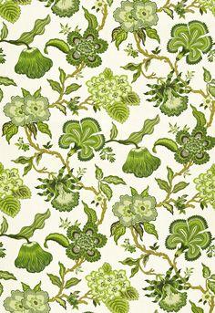 Fabric   Hothouse Flowers in Verdance   Schumacher