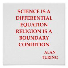 alan TURING quote Print