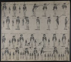 """""""Positions of a Soldier""""   Prints and engravings collection, 1830s-1920s (GC002) -- Historic New England"""