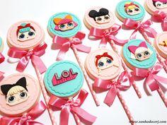 Blog_Pirulito chocolate_LOL Surprise_172641[2] Doll Birthday Cake, Birthday Cookies, Lol Doll Cake, Doll Party, Chocolate Covered Oreos, Lol Dolls, Unicorn Party, Cookie Designs, Cupcake Cakes